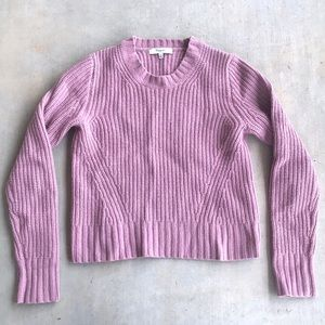 Madewell Dusty Rose Knitted Cropped Sweater